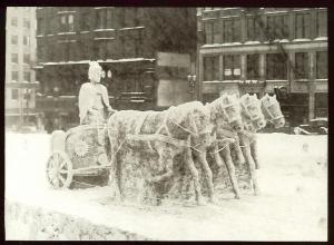 Snow Sclupture St. Paul Winter Carnival, photo of 1937