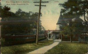 Blue Ridge Mountains PA Summit Station RR Train Depot c1910 Postcard