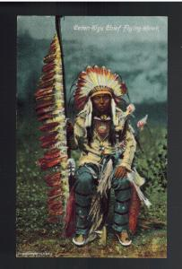 Mint PPC Picture Postcard Cover Native American Indian Chief Flying hawk