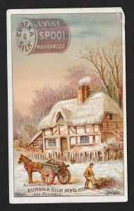VICTORIAN TRADE CARD Eureka Silk Mfg. Co Thread