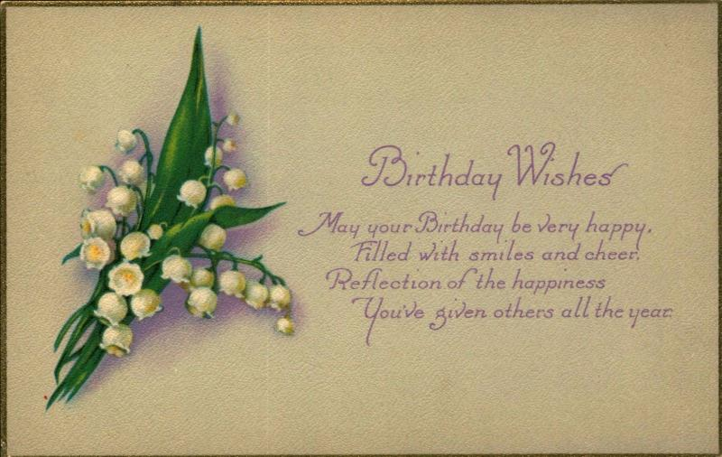 BIRTHDAY, Smiles and Cheer! c1910 Vintage Postcard BD391612