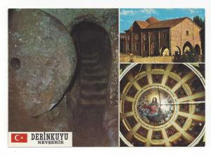 Turkey Derinkuyu Underground City Church Multiview Postcard