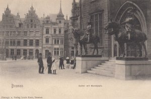 BREMEN, Germany , 1890s ; Reiter mit Marktplatz