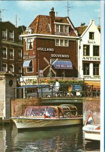 Amsterdam, Rokin met The Mill Shop, 1970 used Postcard