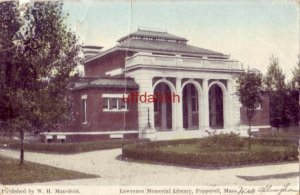 LAWRENCE MEMORIAL LIBRARY, PEPPERELL, MA publ by W. H. Mansfield
