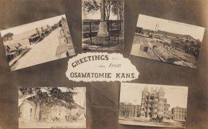 RP:OSAWATOMIE , Kansas , 00-10s ; 5 view Postcard