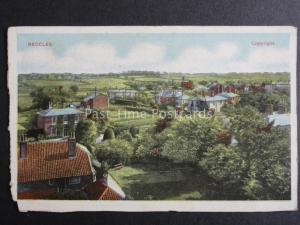 Suffolk BECCLES Panoramic View - Old Postcard