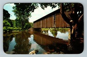 Grand Rapids MI- Michigan, Fallasburg Covered Bridge, Vintage Chrome Postcard