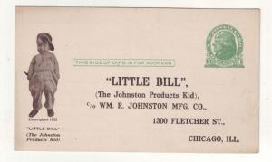 P297 JL old 1922 postcard little bill johnson products kids