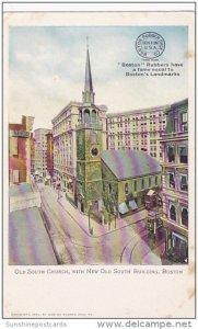 Old South Church Boston Massachusetts Advertising Boston Rubber Shoe Company
