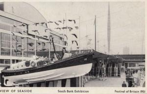 Festival Of Britain View Of The Seaside Southbank Exhibition London Postcard