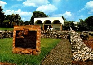 Puerto Rico Bayamon Foundations Of Ponce de Leon House At Caparra
