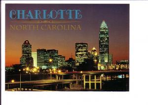 Downtown and Bridges at Night, Charlotte, North Carolina