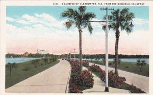 Florida Clearwater A Glimpse Of Clearwater From The Memorial Causeway