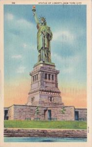 New York City Statue Of Liberty 1941 Curteich