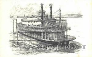 River Queen Steamer, Steam Boat, Steamboat, Ship, Ships, Postcard Post Cards ...