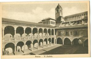 Italy, Novara Il Broletto, early 1900s Postcard, 1970 used
