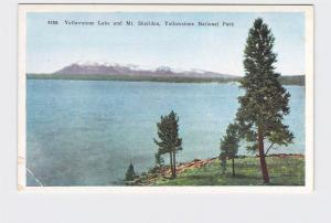 ANTIQUE POSTCARD NATIONAL STATE PARK YELLOWSTONE LAKE AND MT SHERIDAN #4