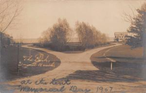 THE PARK~SUNSET BEACH ??~AT THE TENT ON MEMORIAL DAY REAL PHOTO POSTCARD 1907