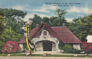 Florida Miami Parrot Jungle Entrance On Red Road Curteich sk1470a