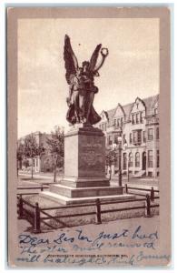 1908 Confederate Monument, Baltimore, MD Postcard