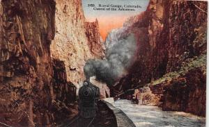 Colorado ,  Royal Gorge  Canon of the Arkansas with Train