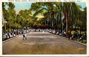 Florida St Petersburg Waterfront Park Tourist Roque Courts 1925