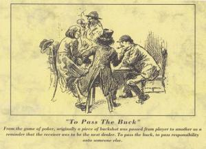 Dealer Poker Game Player To Pass The Buck Postcard