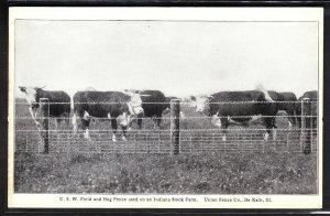 Union Fence Co. advertising card – Indiana Stock Farm