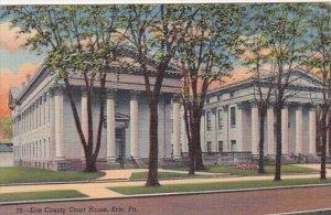 Pennsylvania Erie The Erie County Court House 1942 Curteich
