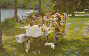 Florida West Palm Beach Picknickers Enjoy A Cook out Overlooking The Beautifu...