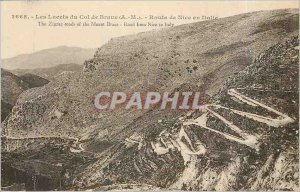Old Postcard The laces of the Col de Braus AM Nice Road in Italy