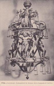 Italy Pisa Cattedrale Lampadario in bronzo detto lampada di Galileo