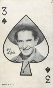 Vintage Arcade Card Playing Cards 3 of Spades Bob Steele  B-Western Movie Actor