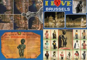 Maneken Pis Belgium 4x Postcard s