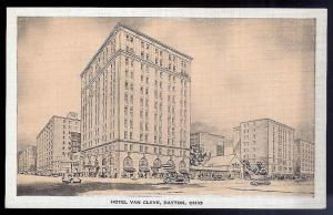Hotel Van Cleve Dayton OH unused 1930's