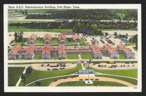 Birds Eye View Main AEC Administration Building Oak Ridge Tennessee Unused 1940s