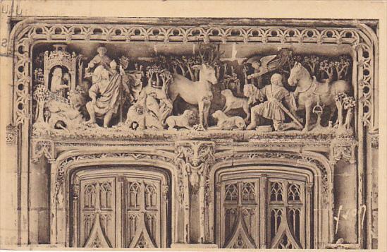 France Amboise Detail de la Porte de la Chapelle Saint Hubert 1936