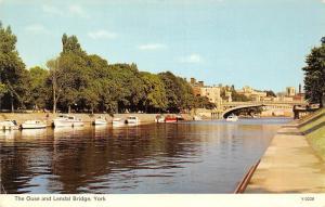 The Ouse and Lendal Bridge, York Boats Bateaux Pont