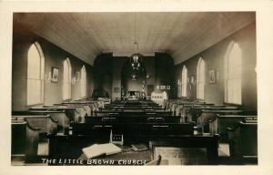 Nashua, Iowa, IA, Interior, The Little Brown Church, RPPC Vintage Postcard c5854