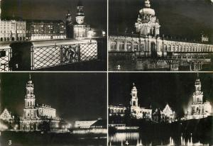 Germany Dresden by night multi views