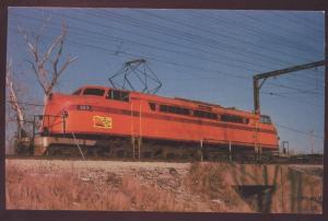 Chicago South Shore Bend Railroad Postcard Train Electric Locomotive 803 IL