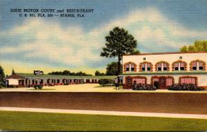 Florida Starke Dixie Motor Court 1956 Curteich