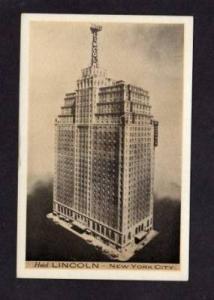 NY Hotel Lincoln 8th Ave NEW YORK CITY Postcard NYC