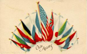 Patriotic - Our Allies WWI, Flags