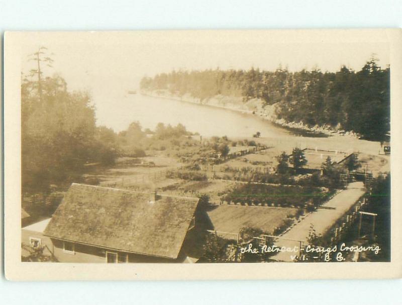 Pre-1949 rppc NICE VIEW Victoria - Vancouver Island British Columbia BC W1040