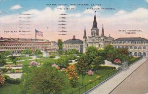 Louisiana New Orleans Jackson Square 1946