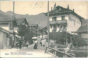 Vintage postcard: SWITZERLAND - SCHWEIZ : Chesières-Villars, Vaud 1913