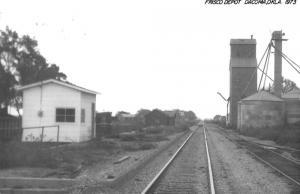Dacoma Oklahoma 1973 Frisco train depot real photo pc Y14682