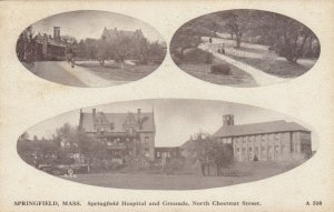 SPRINGFIELD, Massachusetts, 1915; Springfield Hospital & Grounds, N.Chestnut St.